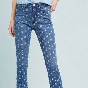 Anthropologie Pilcro Cropped Embroidered Denim 30